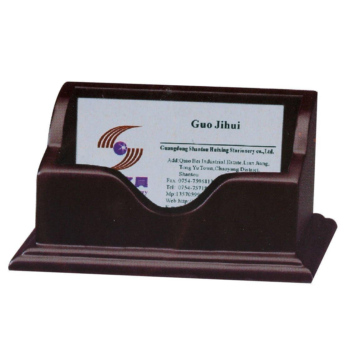 Hfjingjing scrivania in legno penna di vibrazione del tavolo della custodia (marrone)