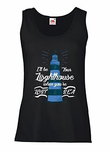 "Canotta Donna ""Lighthouse "" – 100% cotone LaMAGLIERIA"