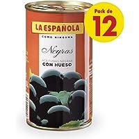 Aceituna Negra Con Hueso 185 gr (Negra Con