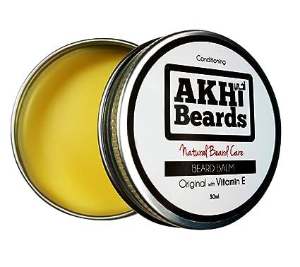 akhi barbas | Original barba Bálsamo con Vitamina E – condiciones, brilla & Hidrata.