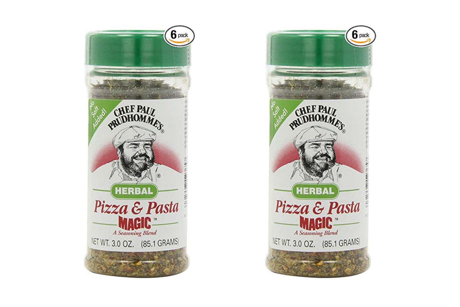 Magic Seasoning Blends Herbal Pizza and Pasta Magic, 3-Ounce Bottles (Pack of 6) (2 Pack)