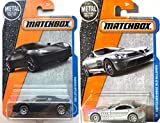 2017 Matchbox '08 LOTUS EVORA (BLACK) #20 & Mercedes-Benz SLR McLaren (Silver) #29 in PROTECTIVE CASES