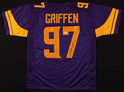 best website 8b651 3db67 Autographed Everson Griffen Jersey - w WITNESSED COA ...