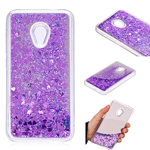 Alcatel U5 (4G) Case,Gift_Source Glitter Liquid Case Shockproof Clear TPU Silicone Bumper + Hard PC Back Case Bling Sparkle Floating Flowing Quicksand Cover For Alcatel U5 (4G version) (5.0