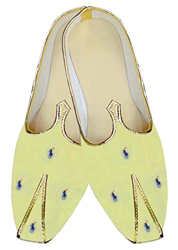 Mens Yellow Wedding Shoes Polo Design MJ016099