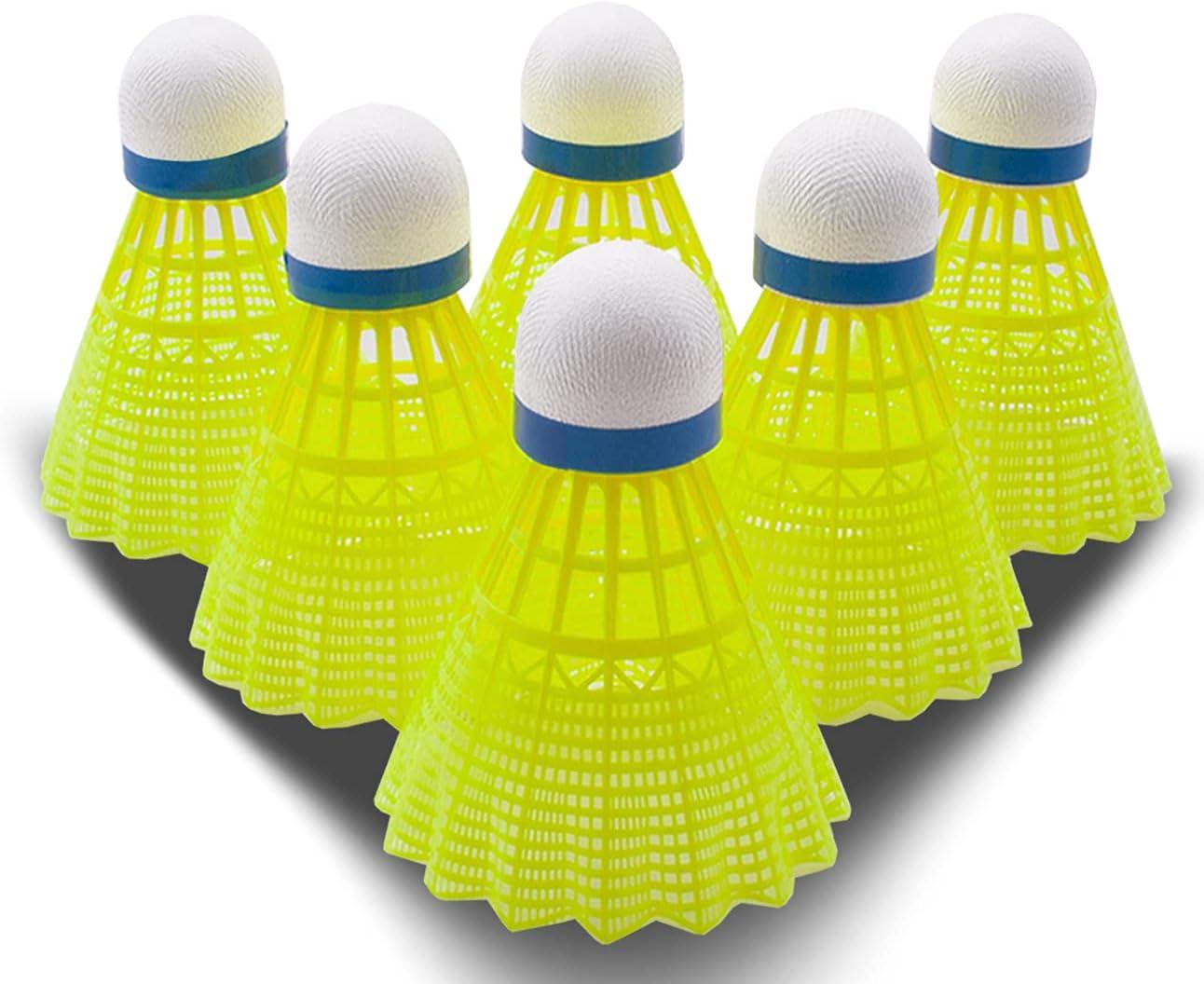 Sinwind Shuttlecocks Badminton Shuttlecocks Balls 12 Pcs Nylon Badminton Balls Proffessional Badminton Birdies Balls Indoor Outdoor Sport Training Colorful
