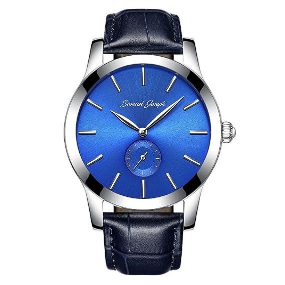 Edición limitada Funda Samuel Joseph Azul a medida de muñeca reloj inteligente de los hombres –