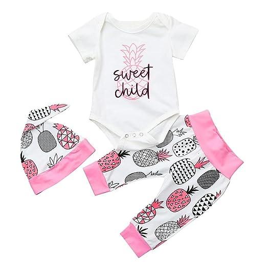 cfe1247aec86 Amazon.com  iumei Unisex Baby Girls Boys Pineapple Print Short ...