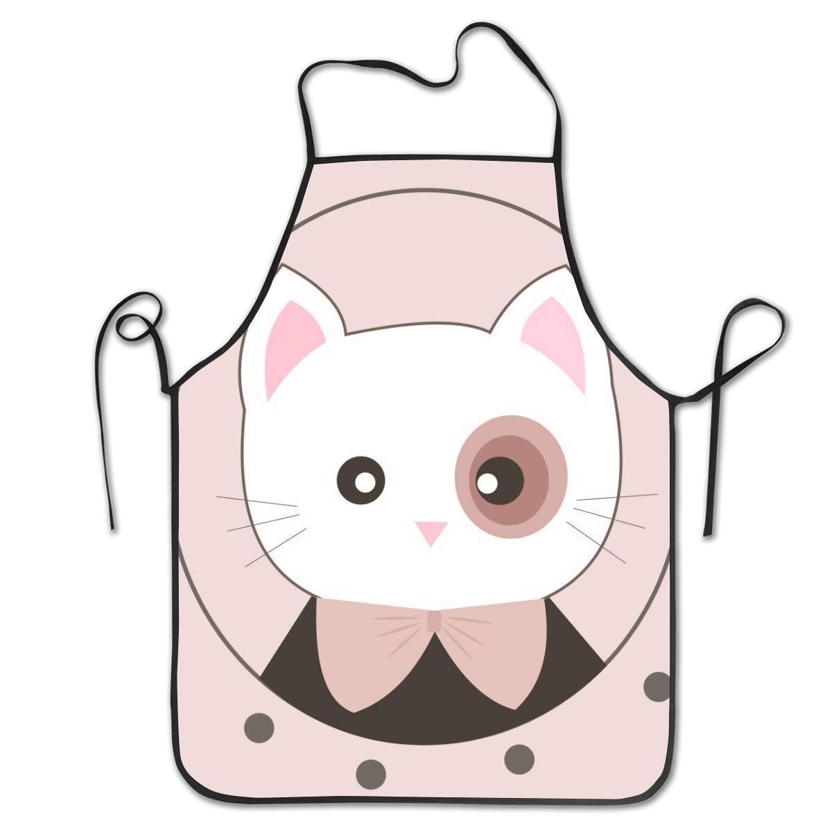 Elsaone Delantal para Hornear Gato de Dibujos Animados: Delantal ...
