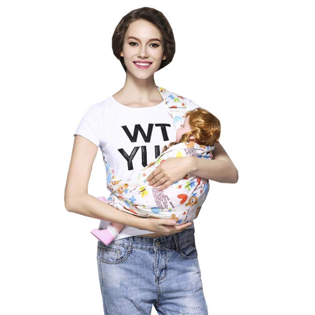 Cascat Baby Convertible Carrier,Newborn Soft Cotton Breathable Baby Wrap Carrier Ring Sling for Infant and Toddler