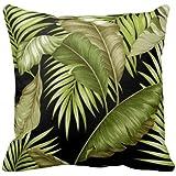 Damuyas Hawaiian Tropical Leaves Throw Pillow Case Decor Pillowcase Cushion Cover (Tropical Leaves)