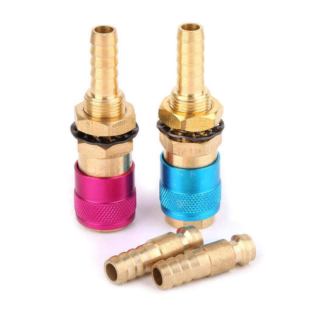Blue 12mm Plug Lamdoo Water Cooled Gas Adapter Quick Connector Fitting For TIG Welding Torch