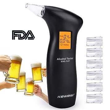 Alkoholtester-Kit Tragbarer Alkoholtester Hochgenauer LED-Bildschirm WEISY Alkohol-Alkoholtester-Tester