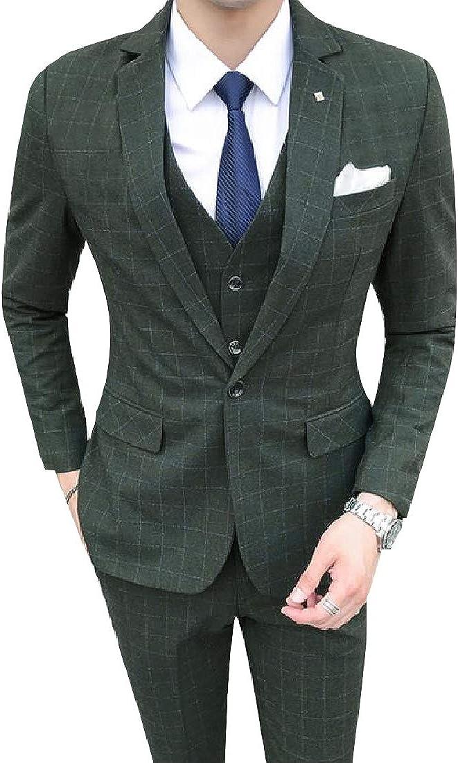 Losait Men Wedding Tailored Fit Comfort Gentleman Suit with Hemmed Pant