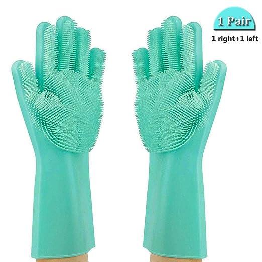 Magic Silicone Dishwashing Gloves (1 Pair),
