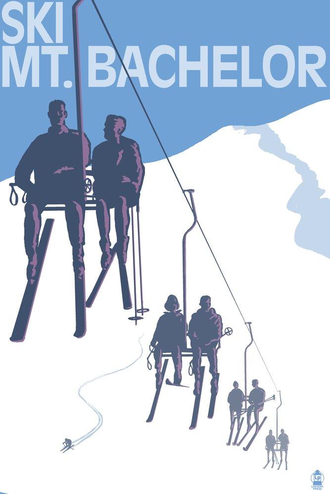 スキーMT。B。B、オレゴン州 – スキーリフト 16 x 24 Signed Art Print LANT-41684-709 B07B2D1XP8 16 x 24 Signed Art Print16 x 24 Signed Art Print