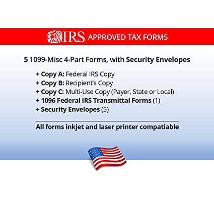 Amazon 1099 Misc Tax Forms For 2017 4 Part Form Sets For 5