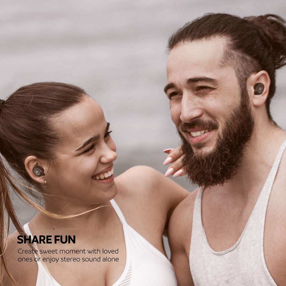 SoundPEATS True Wireless Bluetooth Earbuds in-Ear Stereo TWS Bluetooth Headphones Wireless Earphones (Bluetooth 5.0, 2600mAh Charging Case, 55 Hours Playtime, Built-in Mic) by SoundPEATS (Image #7)