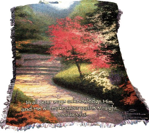 Manual Thomas Kinkade Fringed  - Throw, Afternoon Light