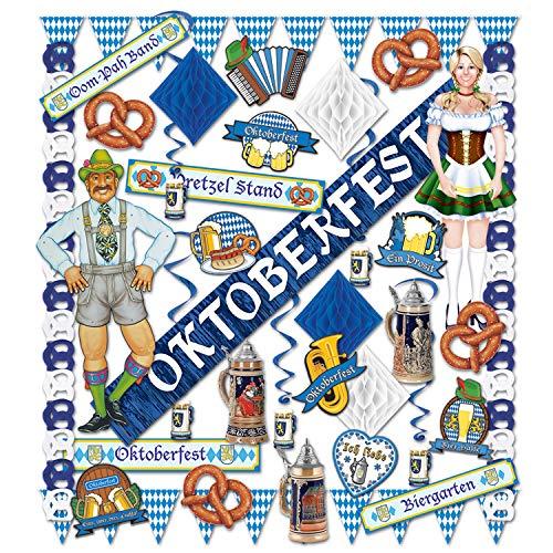 Beistle 5560737piezas Oktoberfest Kit de decoración