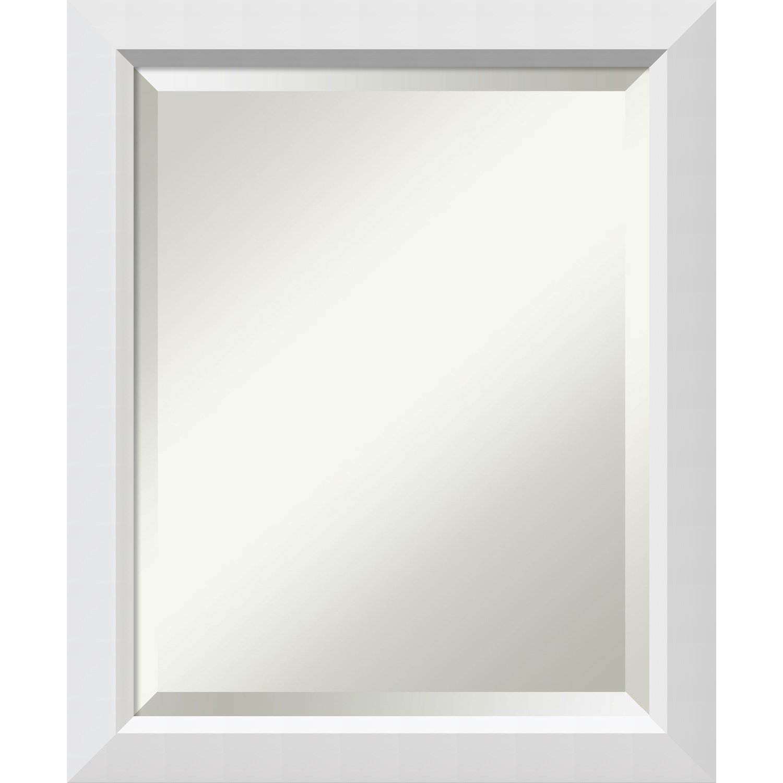 """Bathroom Mirror Medium, Blanco White: Outer Size 19 x 23"""""""