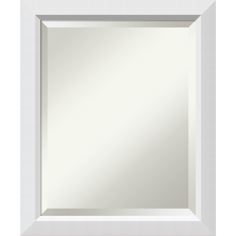 Bathroom Mirror Medium, Blanco White: Outer Size 19 x 23''