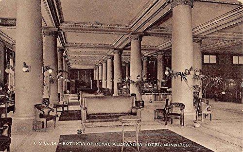 Alexandra Hotel (Winnipeg Canada Aroyal Alexandra Hotel Rotunda Antique Postcard K51111)