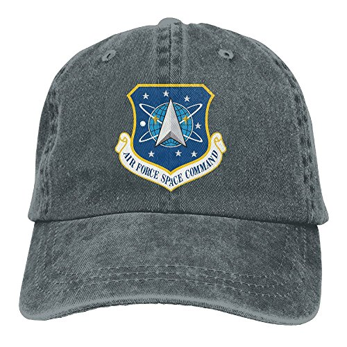 Force Cap Insignia Air (Trableade US Air Force Space Command Insignia Adult Sport Adjustable Structured Baseball Cowboy Hat)