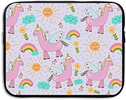 15 Inch Laptop Sleeve Unicorn with Wings