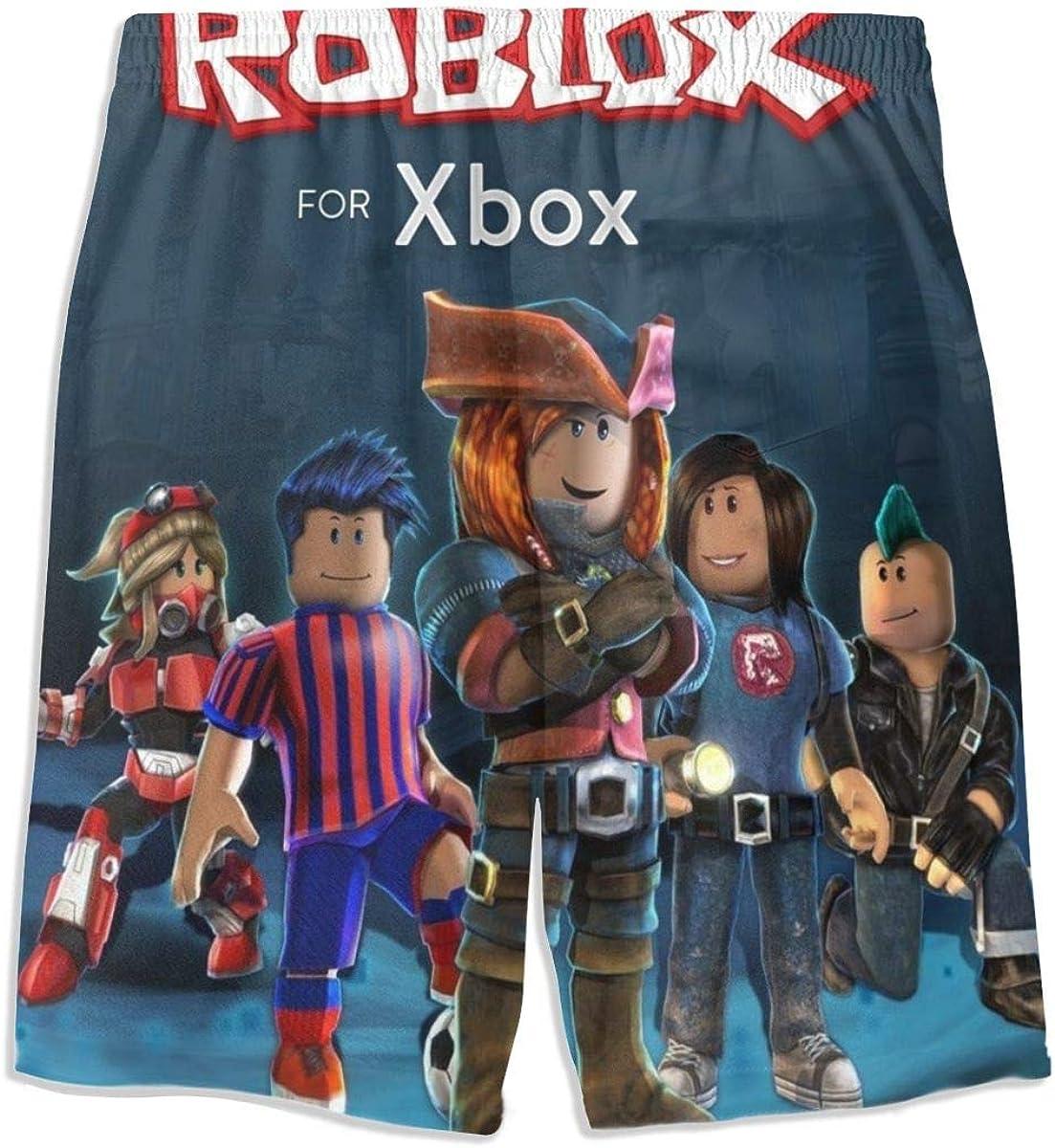 1507 Rob-Lox Boys Swim Trunks Beach Shorts Board Shorts with Pockets for 7-20 Years