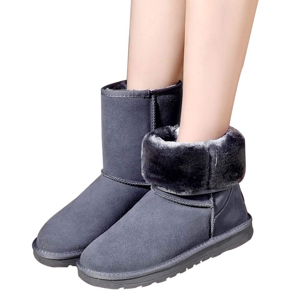 Yudesun Zapatos Mujer Invierno Botines - Bajitos Botas de Nieve Antideslizantes Impermeable Elastica Cómodas y calentitas Bota Tobillera Talla 37-40: ...
