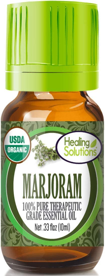 Organic Marjoram Essential Oil (100% Pure - USDA Certified Organic) Best Therapeutic Grade Essential Oil - 10ml
