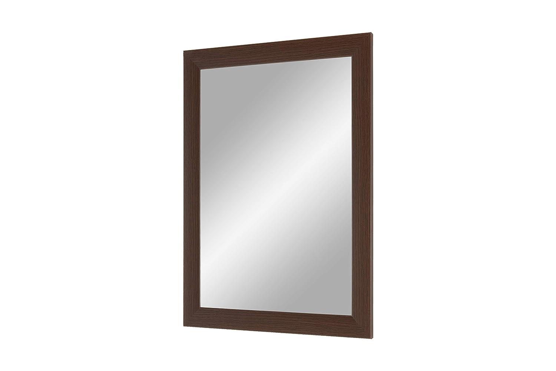 Telaio su Misura con Specchio e Dorso Stabile con Ganci Specchio su Misura con Barra in Legno MDF da 35 mm Duisburger-Rahmen24 Flex 35 Wenge Specchio da Parete 60 x 80 cm con Cornice