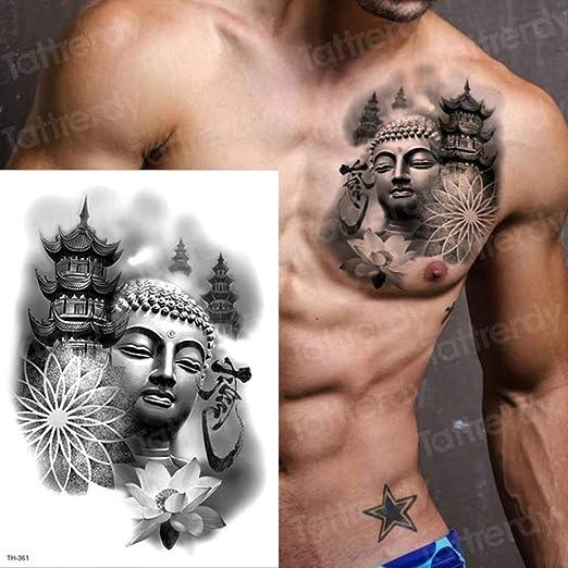 adgkitb 3 Piezas Lobo Tatuajes temporales Luna y Lobo Tatuaje ...