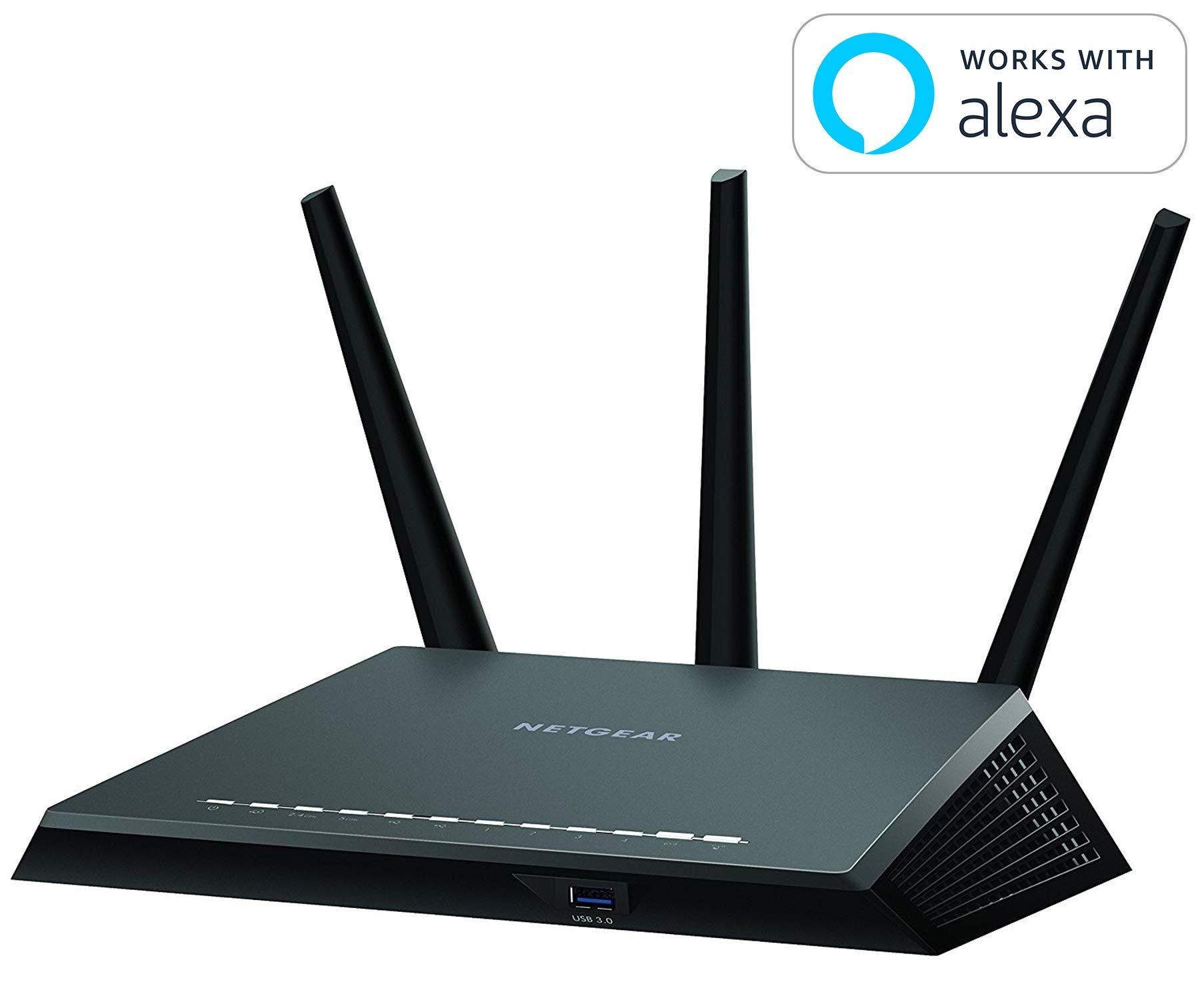 Netgear (R7000P-100NAS) Nighthawk AC2300 Dual Band Smart WiFi Router, Gigabit Ethernet, MU-MIMO, Compatible with Amazon Echo/Alexa and Circle Smart Parental Controls (Renewed) by NETGEAR