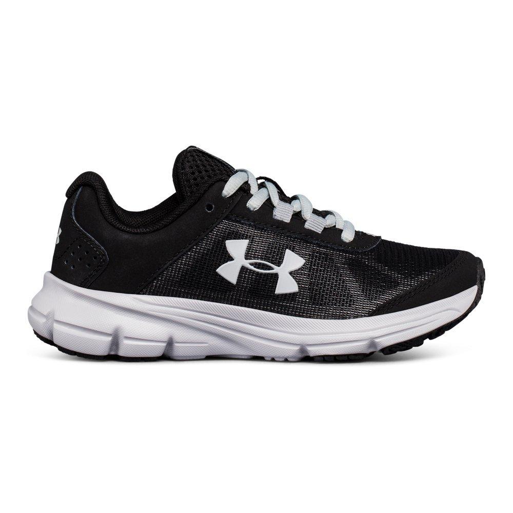 Under Armour Boys' Pre School Rave 2 Sneaker, Black (001)/Overcast Gray, 2