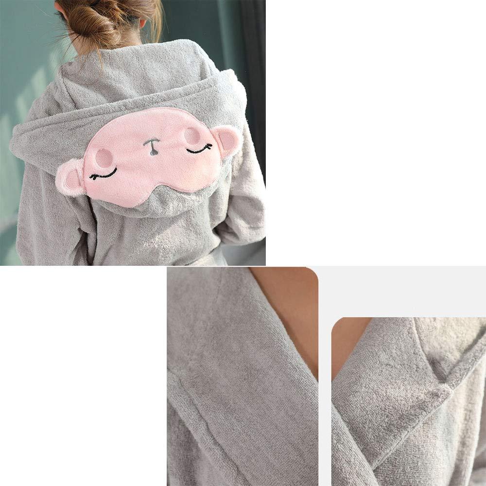 Albornoz, Caricatura de Mujer con Capucha, Batas de Algodón Cortas Personalizadas, Toalla Absorbente de Hotel: Amazon.es: Hogar