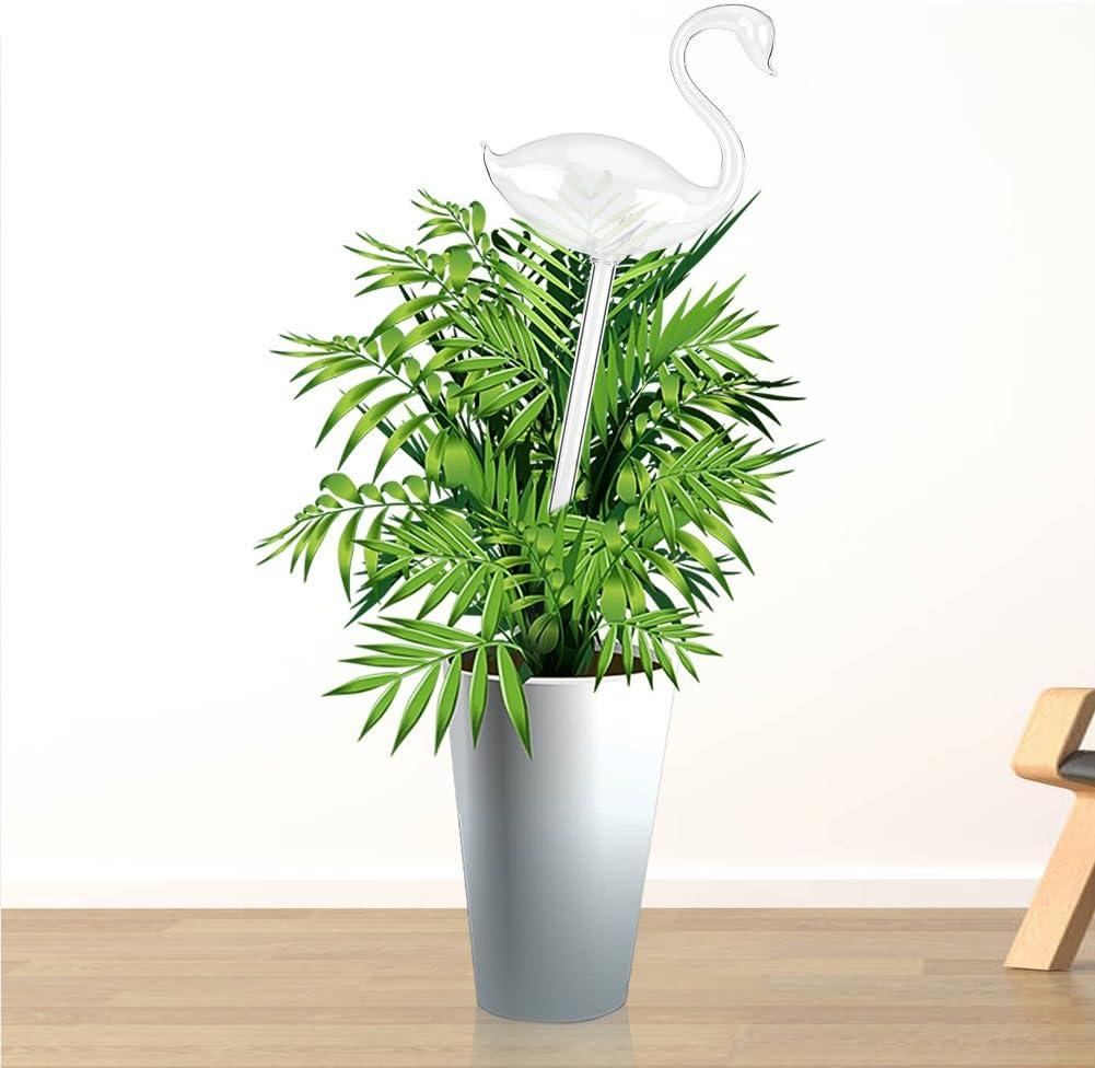 Schwan Form Tropfer Selbstbew/ässerung Ger/äte Klarglas Wasser Beh/älter f/ür Zimmerpflanze Topfpflanzen Blumen Bew/ässerung