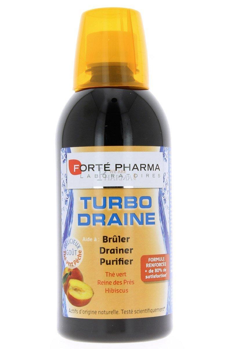Amazon.com: Forte Pharma Turboslim Drainer Peach 500ml: Health & Personal Care