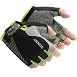 Cycling Gloves with Shock-absorbing Foam Pad Breathable Half Finger Bicycle Riding Gloves Bike Gloves