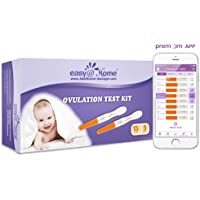 Easy@Home 15 Ovulation (LH) and Plus 5 Pregnancy (hCG) Test Sticks, FSA Eligible Midstream Fertility Test Kit, Powered by Premon Ovulation Predictor App