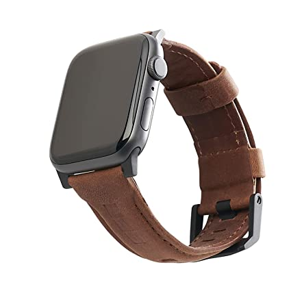 URBAN ARMOR GEAR UAG Compatible Apple Watch Band 40mm 38mm, Series 5/4/3/2/1, Leather Brown