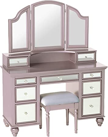 Furniture of America CM-DK6848WH Athy White Vanity with Stool
