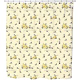 Breakfast At Mini Mouse Shower Curtain: Large Waterproof Luxurious Bathroom Design Woven Fabric