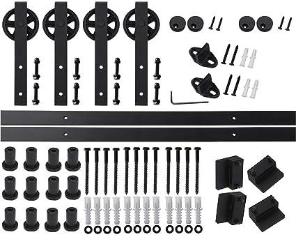 Kit de herramientas para puerta corredera de madera con colgante en forma de rueda de radios
