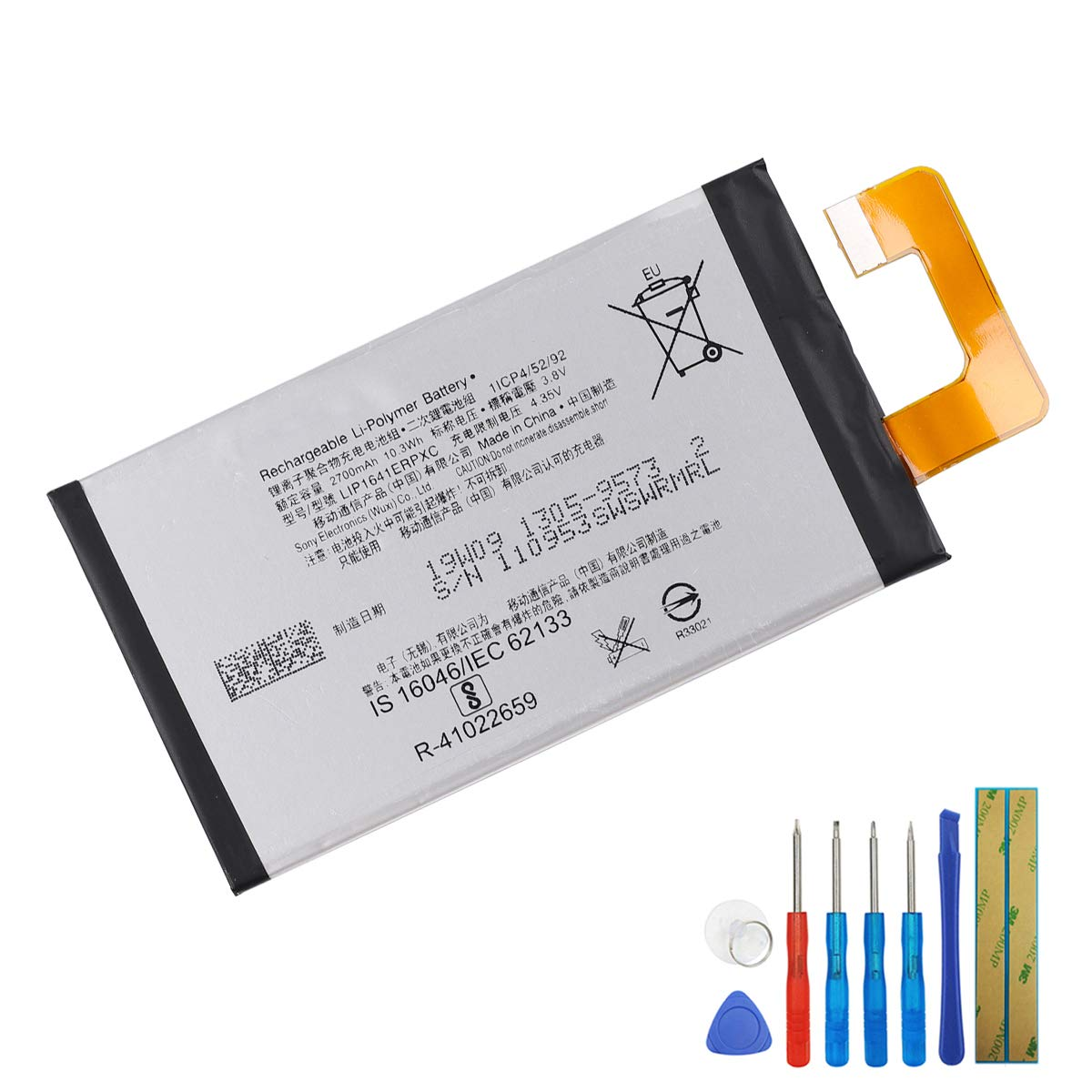 New Li-Polymer Replacement Battery LIP1641ERPXC Compatible with Sony Xperia XA1 Ultra G3212 G3221 with Tool