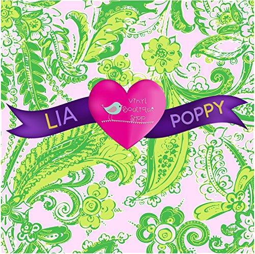 Craft vinyl lilly p inspired vinyl, lilly inspired, lilly vinyl, htv vinyl, vinyl rolls lilly p, Leaves Lia Poppy Vinyl Sheet -154 Heat Transfer Vinyl 12