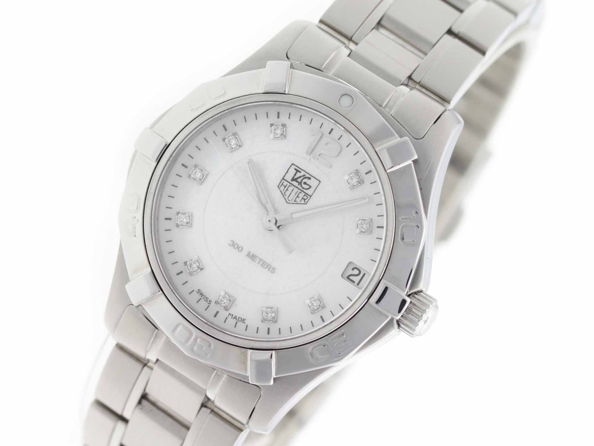 Tag Heuer Aquaracer swiss-quartz womens Watch WAF1312.BA0817 (Certified Pre-owned)