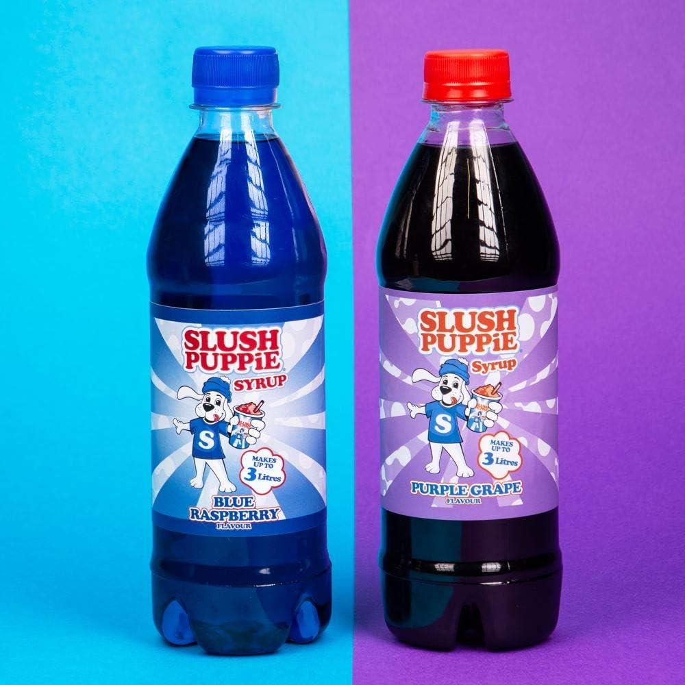 Slush Puppie Syrup 2 Pack Blue Raspberry & Purple Grape: Amazon.es ...