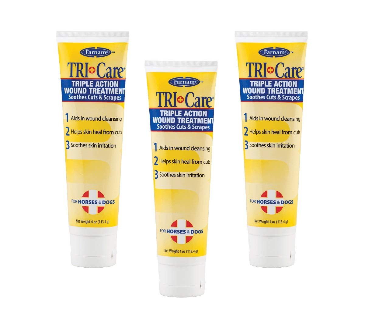 (3 Pack) Farnam Tri-Care 3-Way Wound Treatment 4-Ounce Each